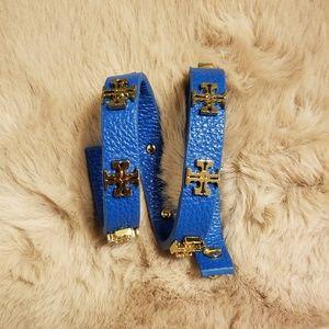 🐞NWOT🐞Tory Burch Double Wrap Logo Stud Bracelet